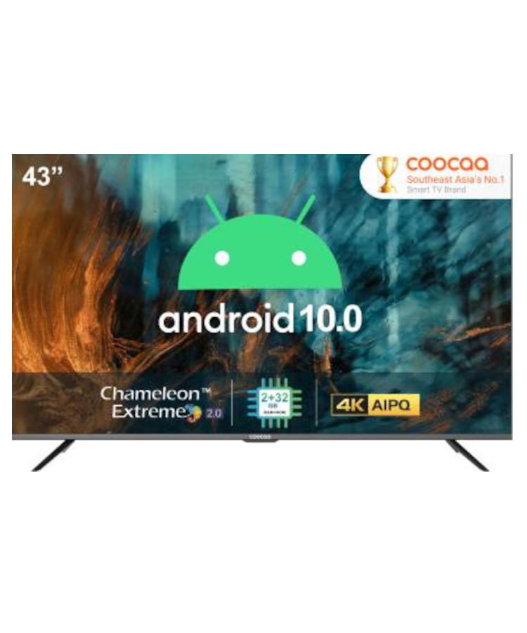 Coocaa 109 cm (43 inch) Ultra HD (4K) LED Smart Android TV with 10.0 Q(43S6G Pro) OSSR-166537