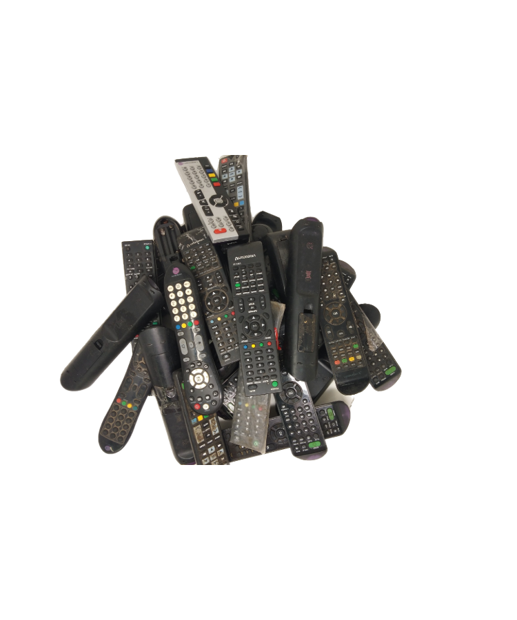 Lot - RL1004 Preowned Videocon Television Remotes Compatible with Videocon Smart LED/LCD/HD TVs